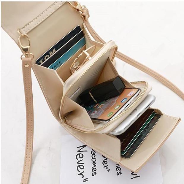 c1060b651 Fashion Women Mini Phone Coin Card Slot Faux Leather Crossbody Phone Bag –  Pierrebuy