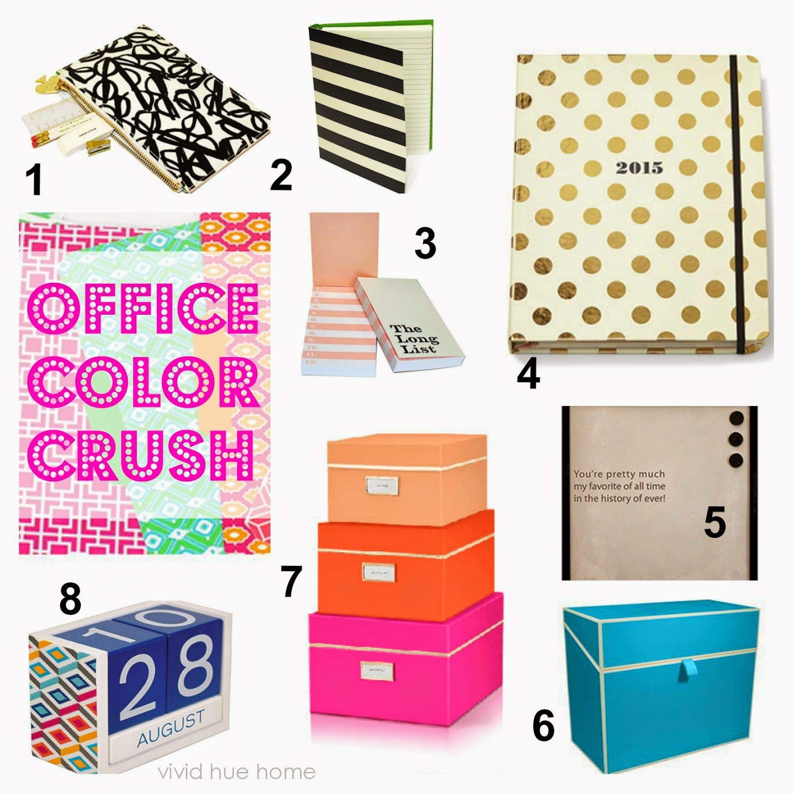Color Crush Urban Girl Office Supplies Stylish Office Supplies