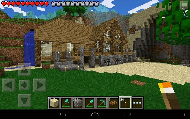 An advanced but not quite advanced survival home for Explore craft survival pe