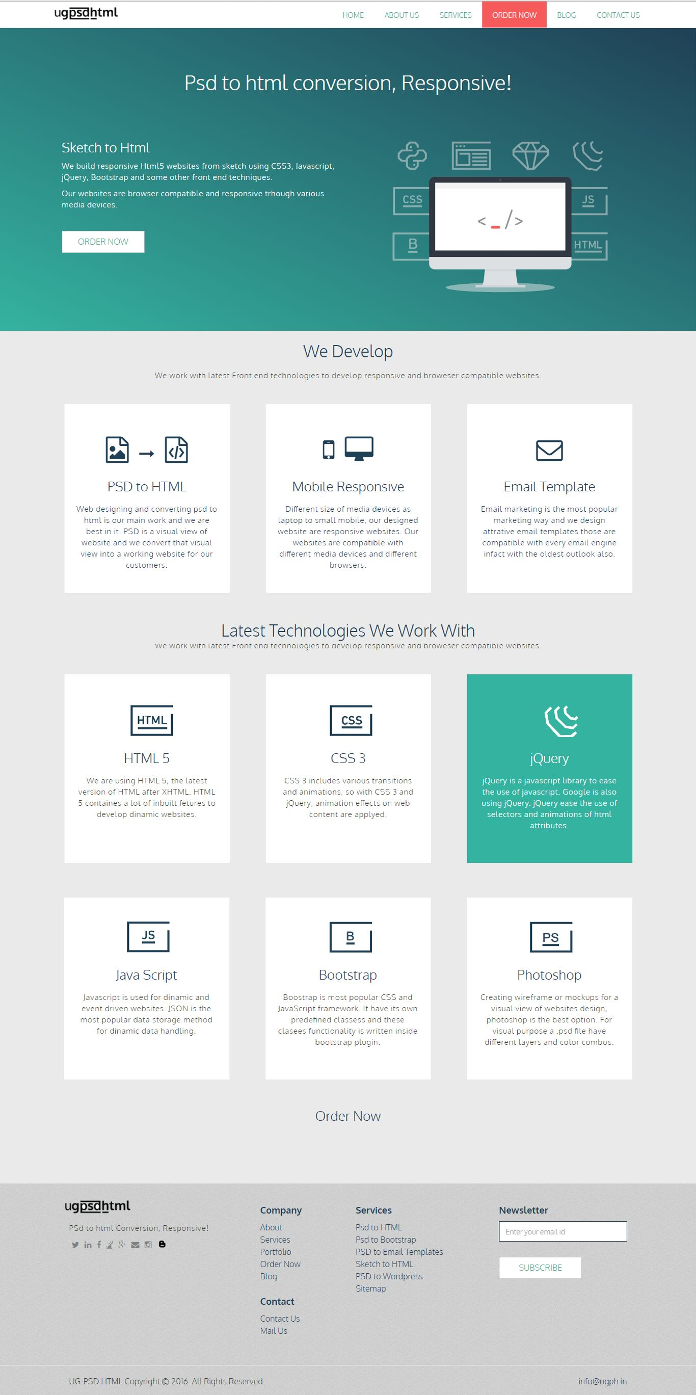 psd to html conversion, template design, ugph.in | Psd to HTML ...