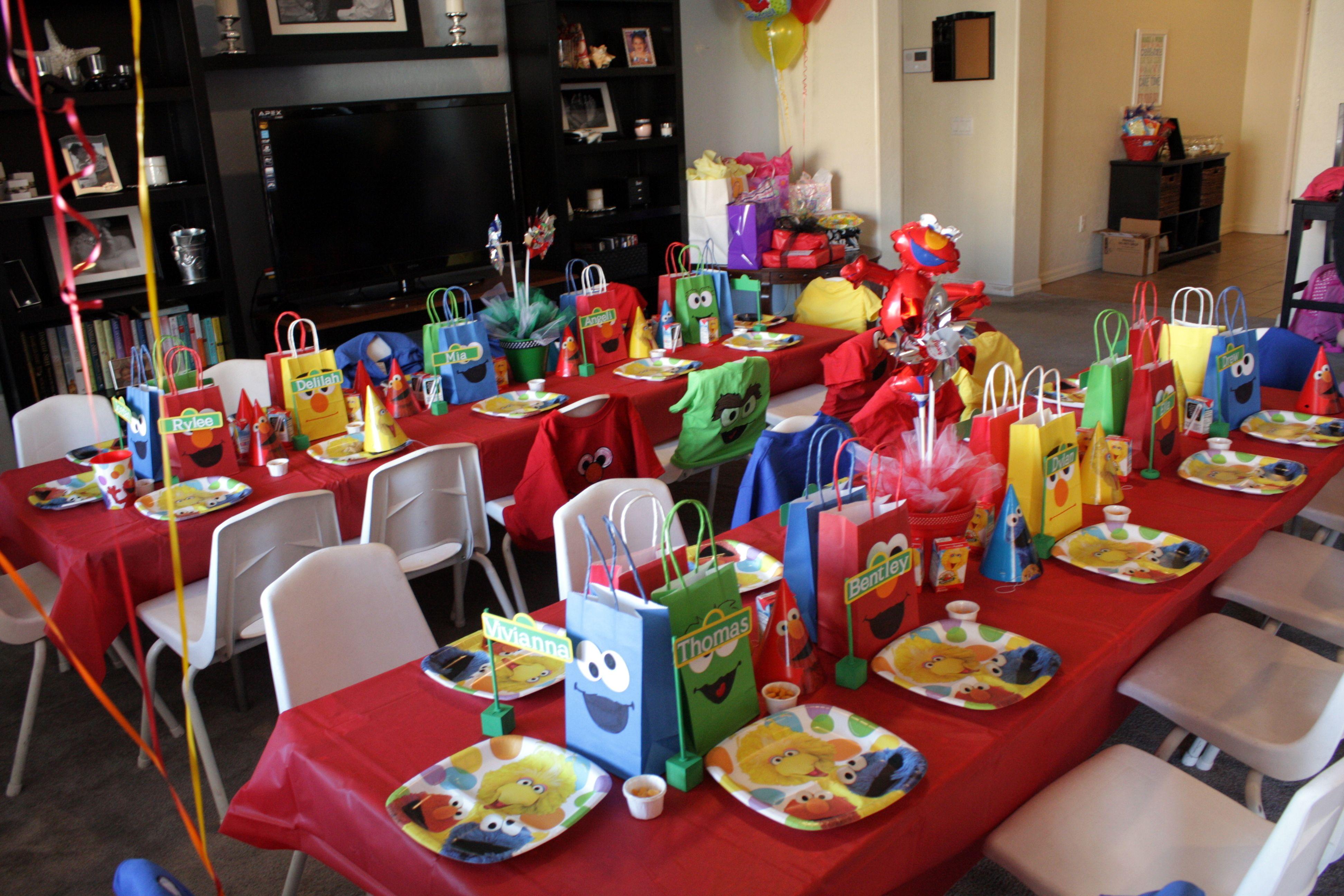 Jordan's Sesame Street party