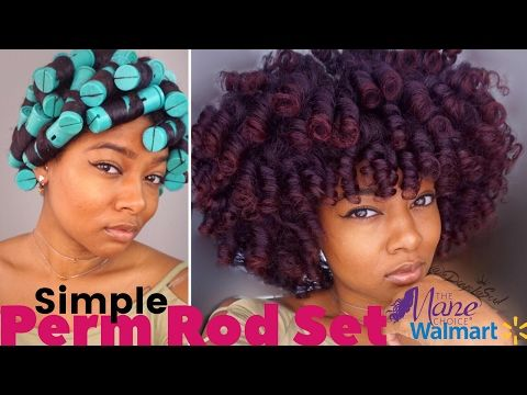 Natural Hair Tutorial The Perfect Perm Rod Set On Thick