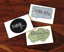 Say thank you in a unique way! Fun thank you cards discounted now. www.apaintednest.com