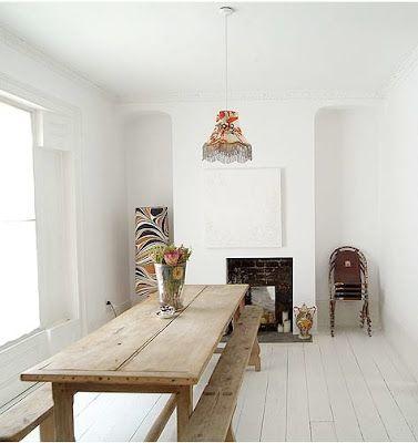 Narrow Rustic Farm Table