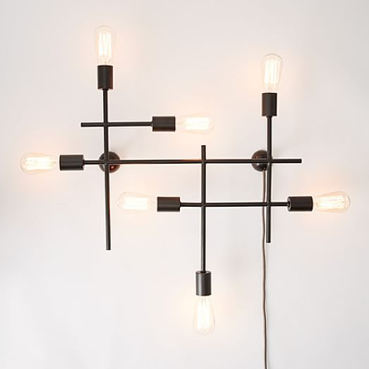 This Would Look Cool On The Wall Over The Credenza/ Buffet. This Or A  Decorative Mirror Industrial Grid Wall Sconce