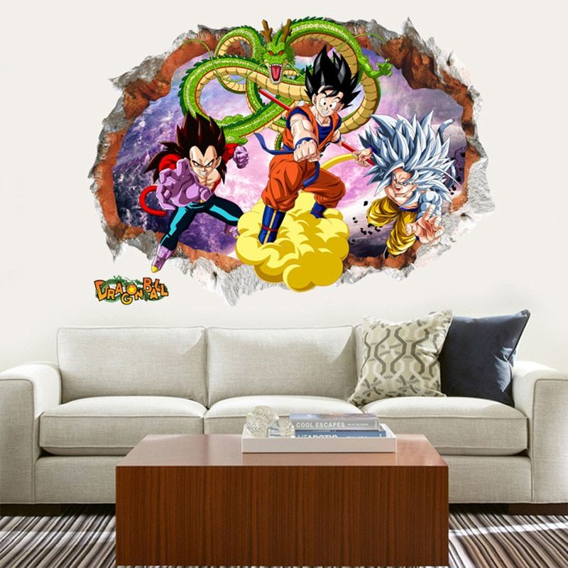 Dragon Ball Z Kids Rooms Decoration Mural Art Wallpaper By Fandom Express Mural Art Kids Room Wallpaper Kid Room Decor