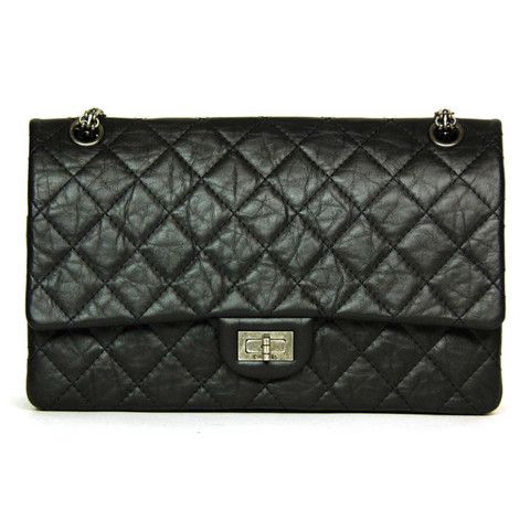 Chanel Navy 2 55 Reissue Quilted Classic Calfskin Leather 227 Flap Bag