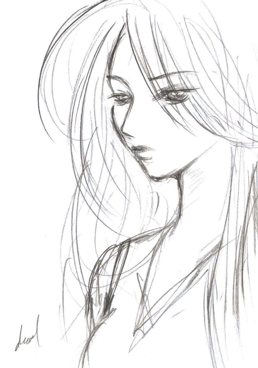Girl Sketch Man made art Pinterest Girl sketch and