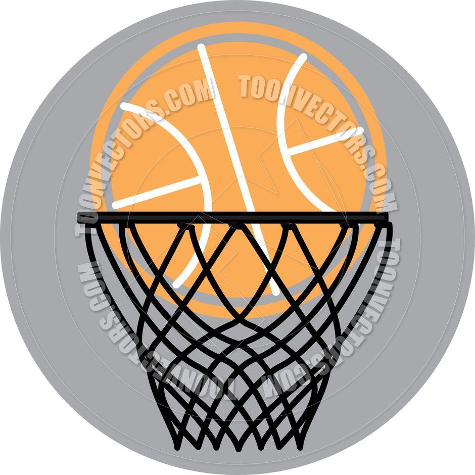 Cartoon Basketball Hoop Vector Basketball