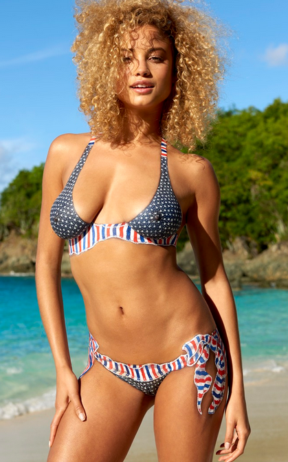 Ronda Rousey's body painted swimsuit helped out the real