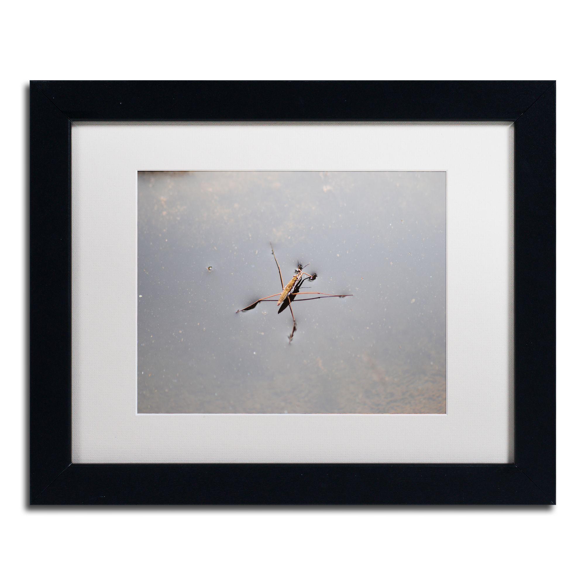 Monica Mize 'Glide' White Matte, Framed Wall Art