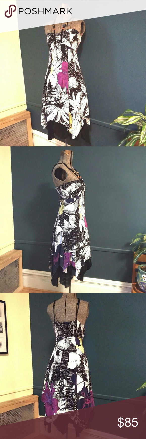 Free People Tattered Shred Multicolor Boho Dress M Free People Tattered Up Shred Multicolor Boho Slip Dress M Rare   Lined?   Excellent?Preowned Condition   Smoke and Pets Free House   Will ship within 24 hours from cleared payment Free People Dresses Asymmetrical