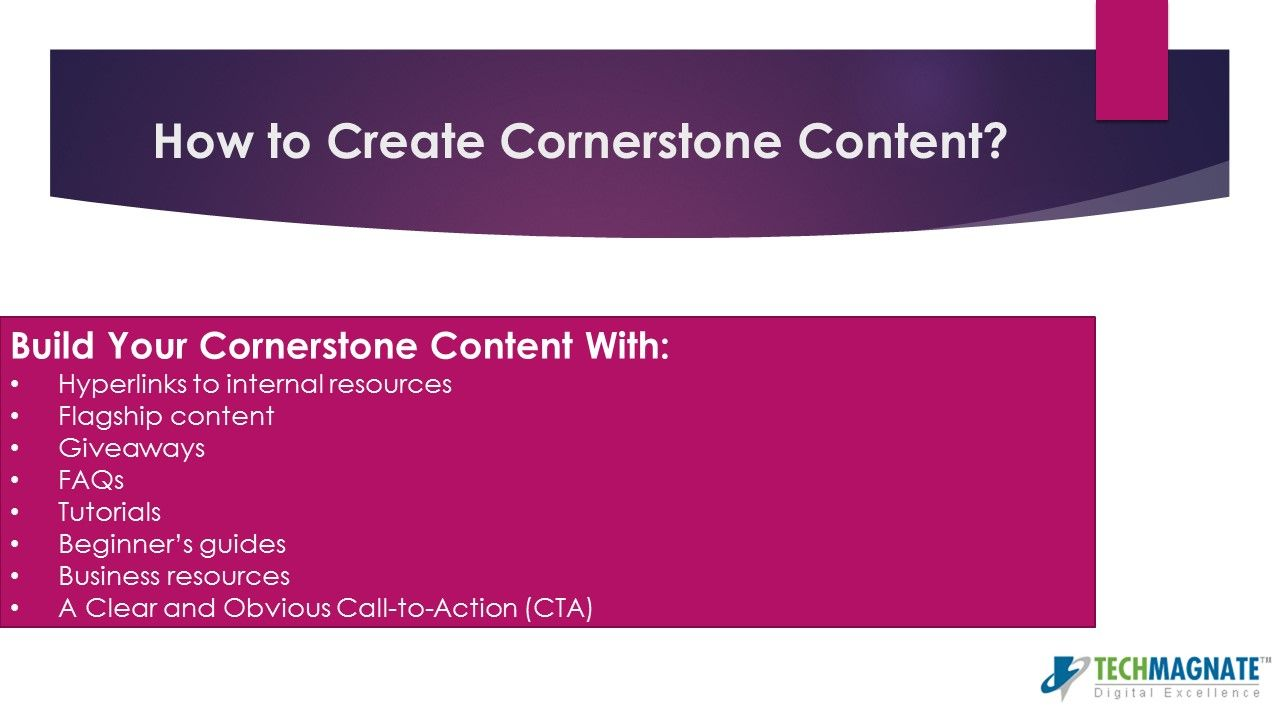 Do you know how to create content for your website for better #DigitalMarketing #SEO results??? See our slideshare presentation: http://www.slideshare.net/techmagnate/how-to-create-cornerstone-content-that-drives-traffic-to-your-website