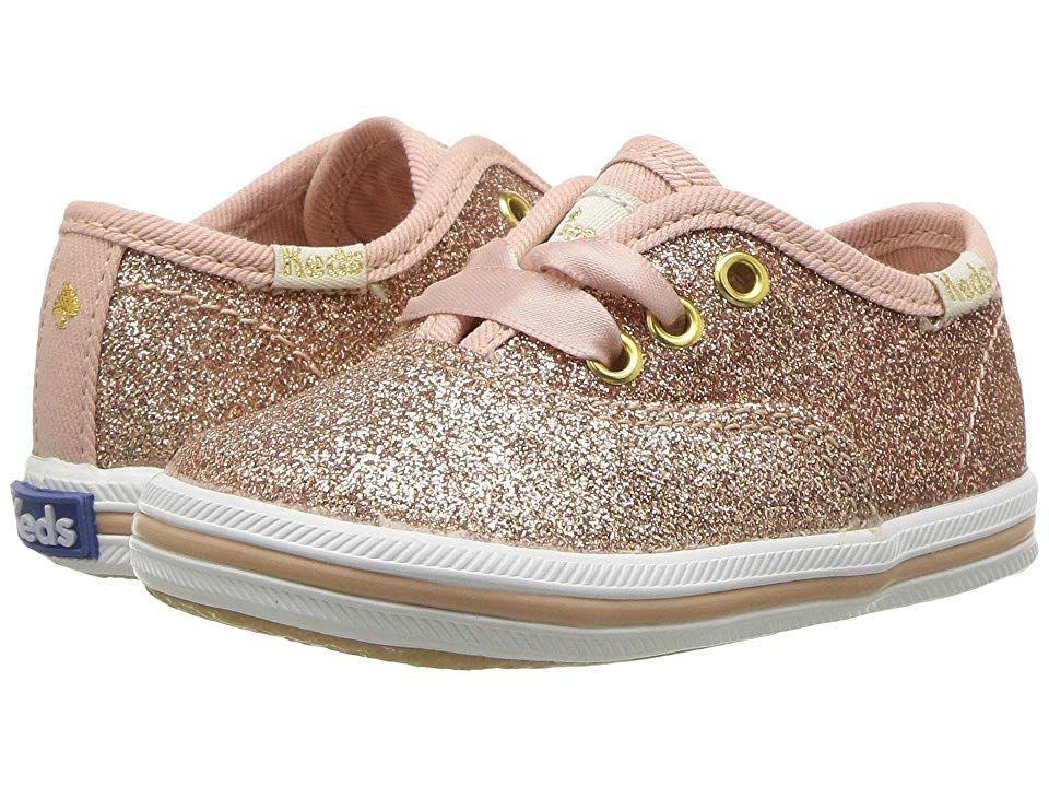 670783cc506d Keds x kate spade new york Kids Champion Glitter Crib (Infant Toddler) (Rose  Gold) Girl s Shoes. She s going to have a new glittery obsession!