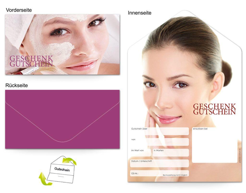 Gutschein Kosmetik Gesichtsbehandlung Frau Gesichtsbehandlung Gutschein Vorlage Gutscheine