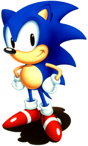 Classic Sonic The Hedgehog All In His Glory Sonic Birthday Sonic The Hedgehog Classic Sonic
