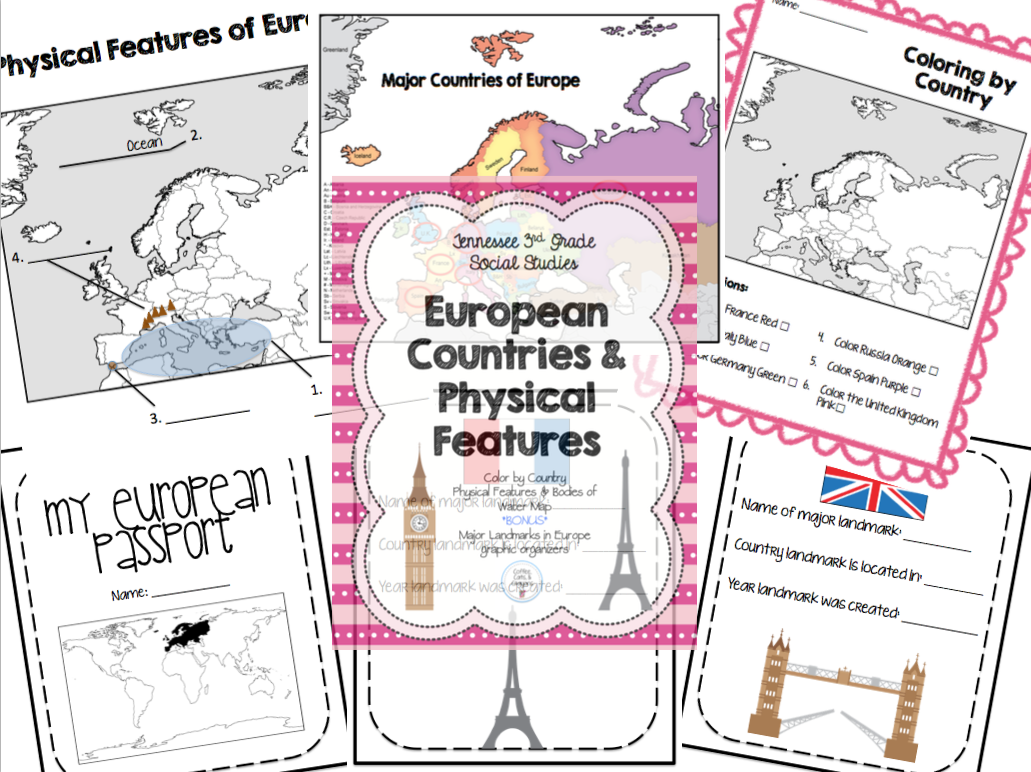 Europe Major Countries Physical Features Amp Passport