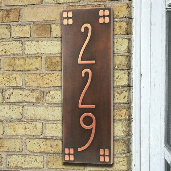 Copper House Number Plate By Starmekitten Copper House Craftsman Home Decor Craftsman House Numbers