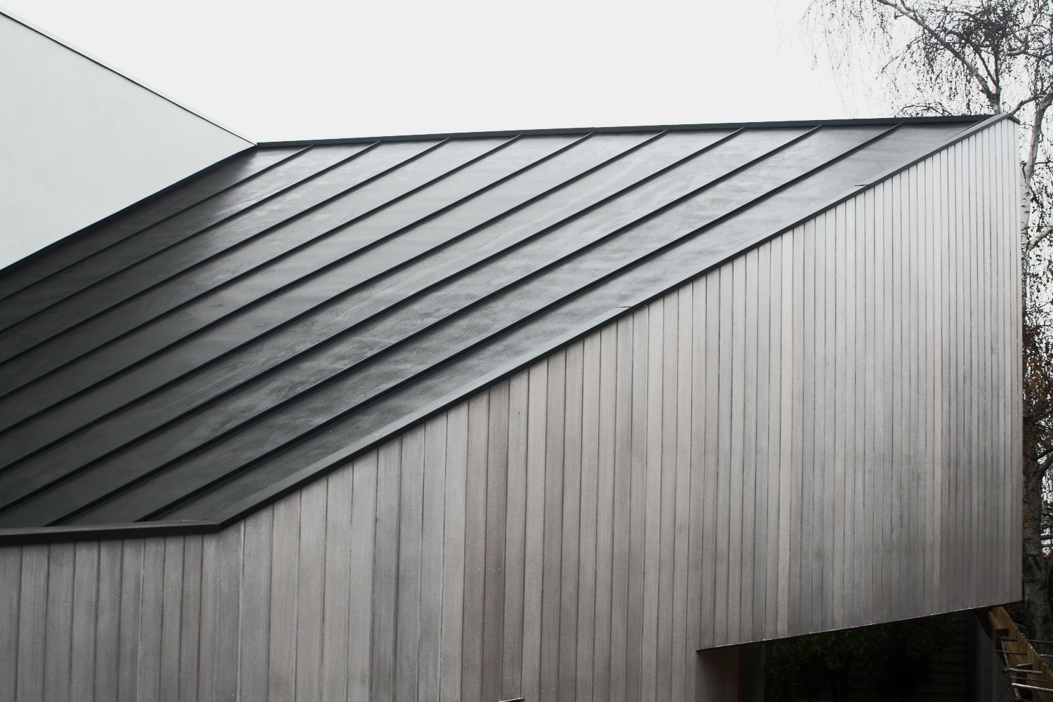 Roof Cladding Exterior Screening And Cladding In 2019 Zinc Roof Roof Cladding Metal Cladding