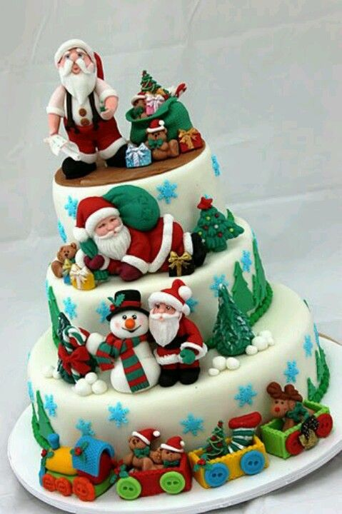 awesome christmas cake christmas sweets christmas cake decorations christmas baking holiday cakes - Christmas Dessert Decorations