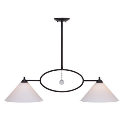 Kenroy Home Ollie Light Island Chandelier In Oil Rubbed Bronze - 2 light island chandelier