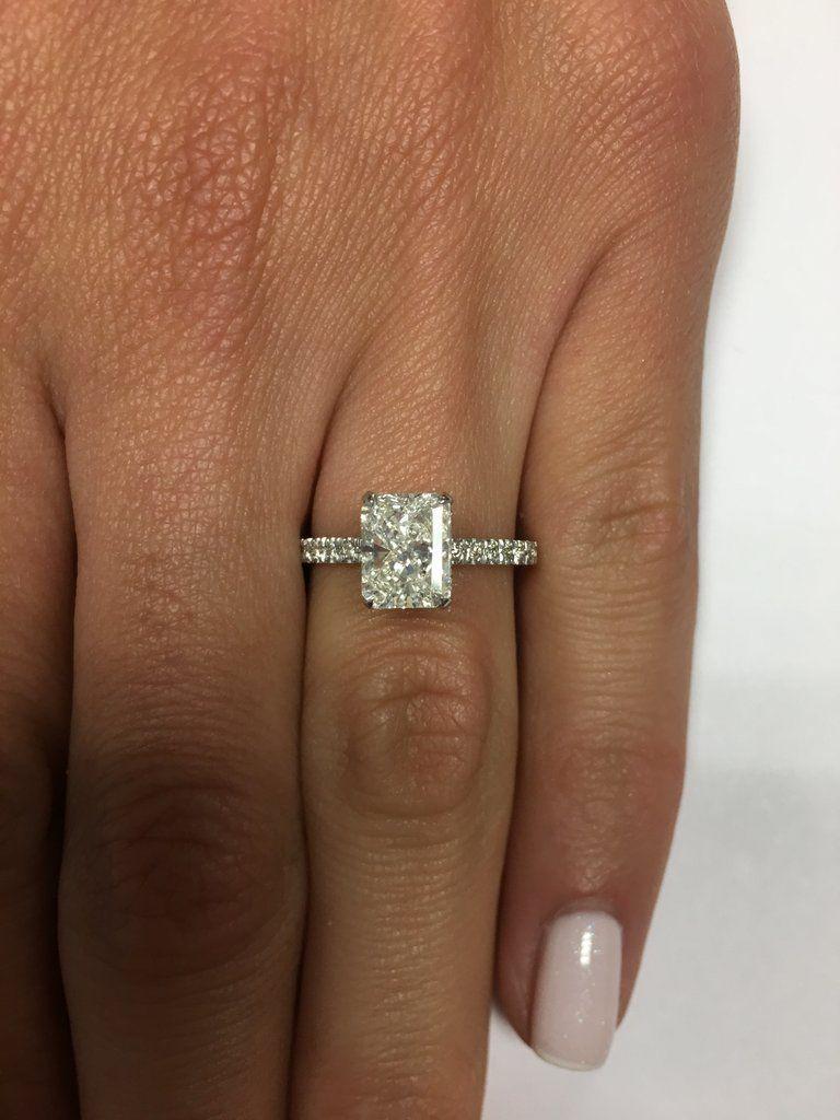 ct radiant cut diamond engagement ring diamond rings