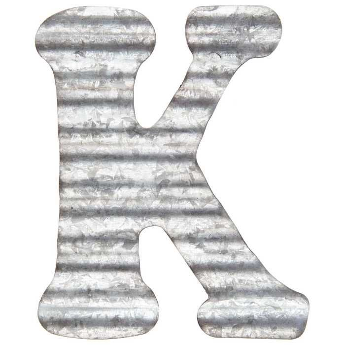 Corrugated Metal Letter Wall Decor K Metal Letters Letter Wall Decor Metal Wall Letters