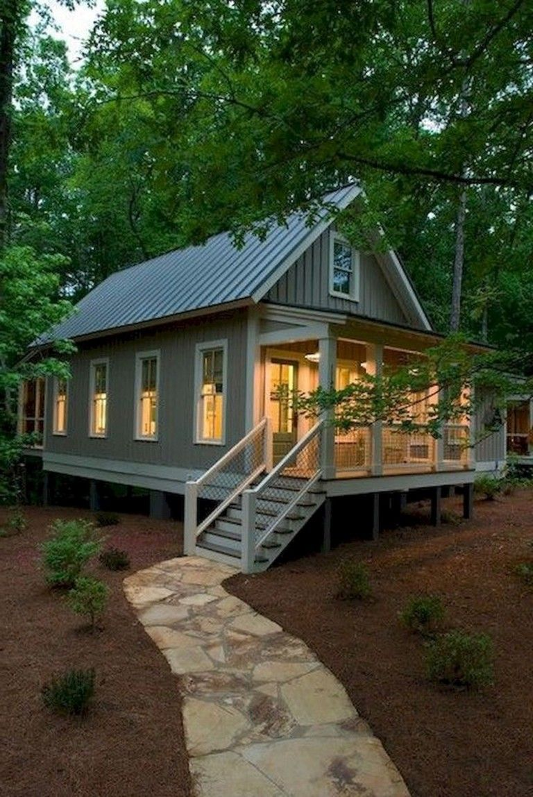 25 Inspiring Small Cottage House Plan Designs Ideas Page 37 Of 37 Small Cottage Homes Cottage House Exterior Small Lake Houses