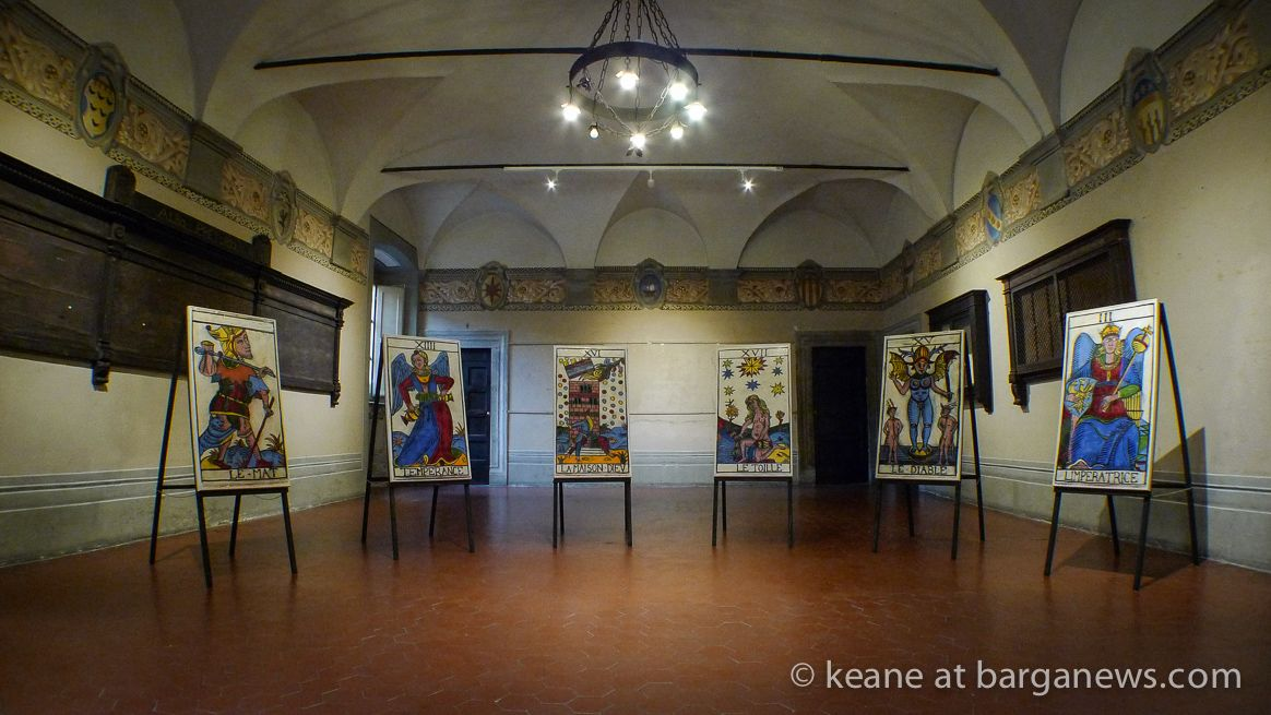 http://www.barganews.com/2016/06/17/keane-pop-tarot-in-palazzo-pancrazi/  Keane: Pop Tarot in Palazzo Pancrazi  The mysteries of Tarot explored in mysterious Barga - an exhibition by Keane in Barga Vecchia - article by Frank Viviano