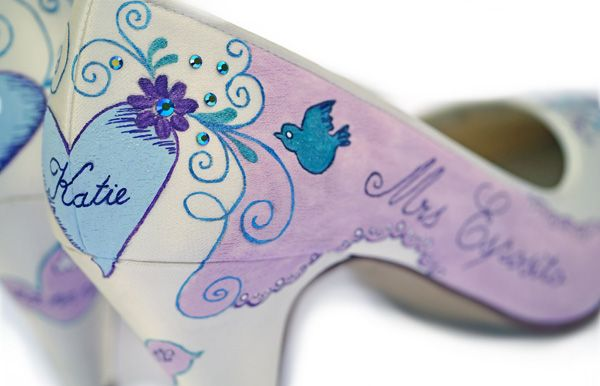 Amazing And Unique Hand Painted Wedding Shoes From Le Soulier