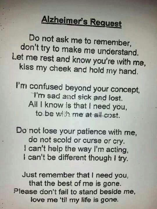 Alzheimer's Prayer