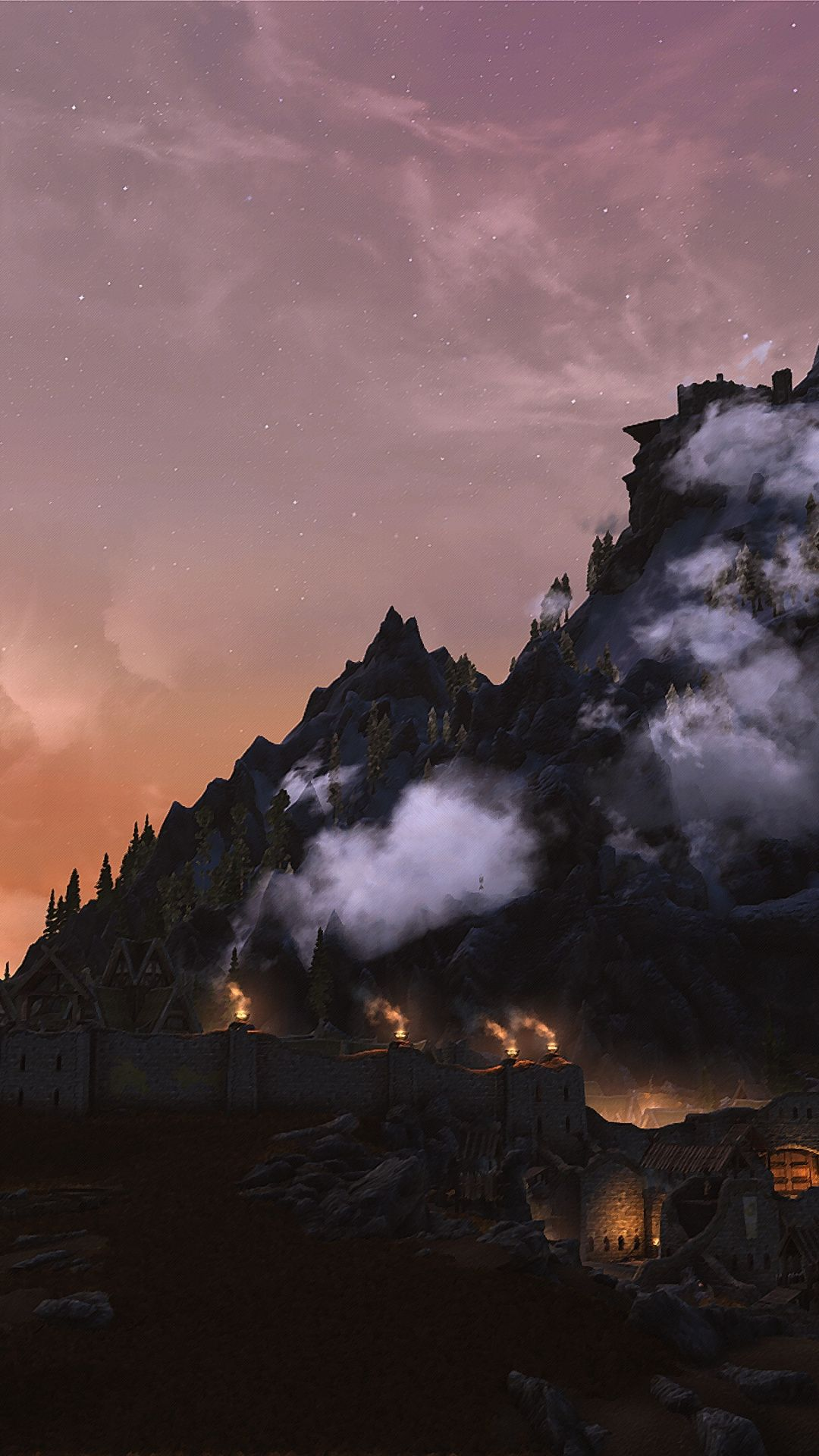 Mountains, The Elder Scrolls V Skyrim wallpaper (With