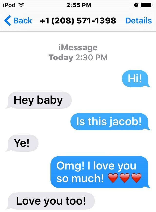 I was txting to jacob sartorious and i almost died of excitement!! ❤️❤️
