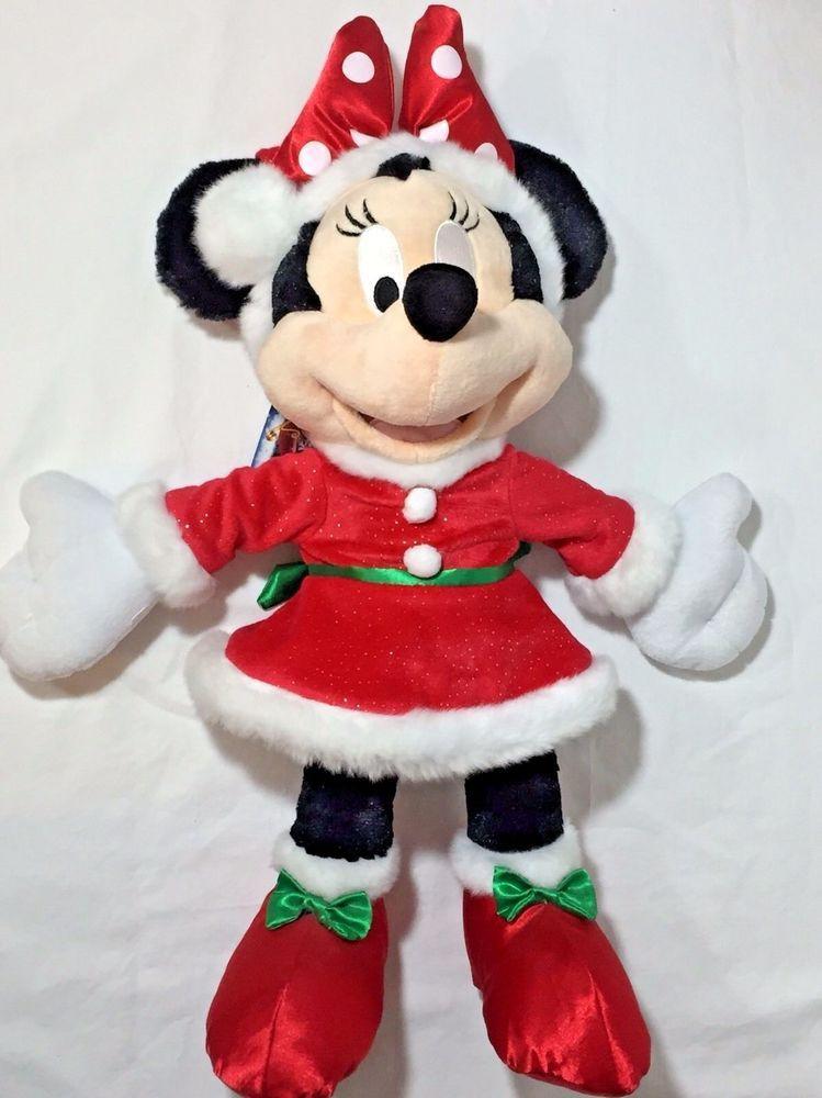 Christmas Minnie Mouse Plush.Details About Minnie Mouse Plush 10 Mrs Santa Claus Outfit