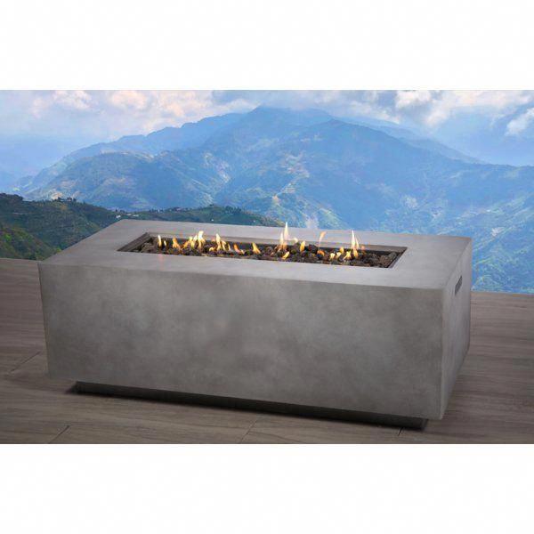 Santiago Concrete Propane Gas Fire Pit Table #firepitideas