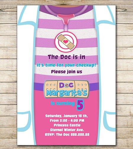 doc mcstuffins birthday invitation - doc mcstuffin party | mrd's, Party invitations