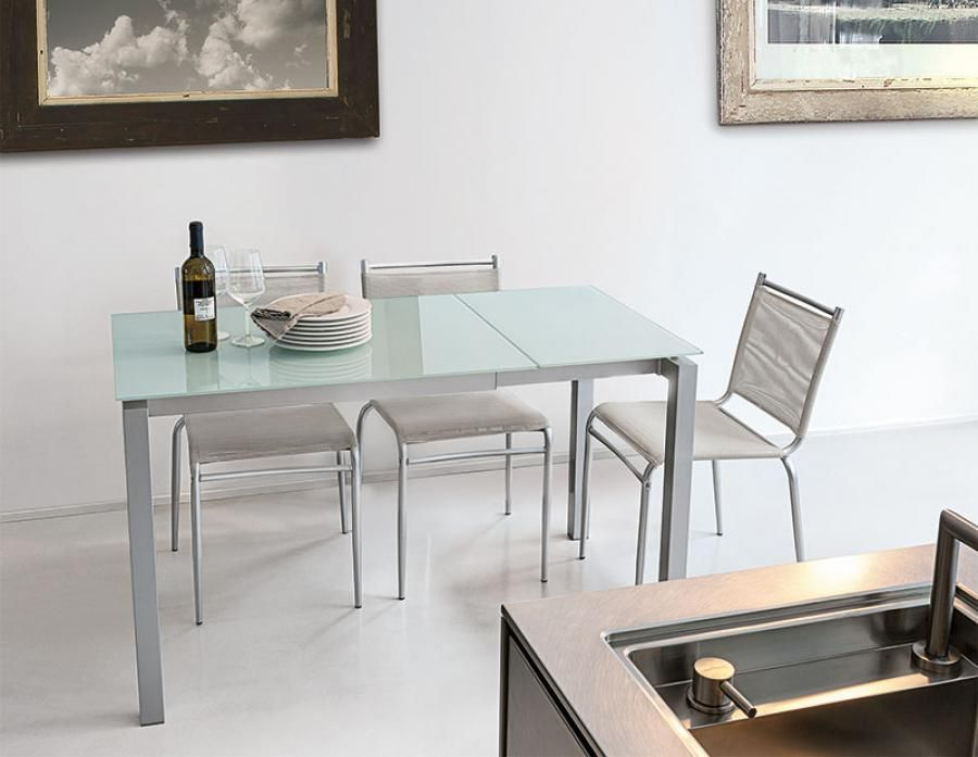 Target Point Modern Auriga 90 Extending Glass And Metal Dining Adorable Extendable Glass Dining Room Table Inspiration