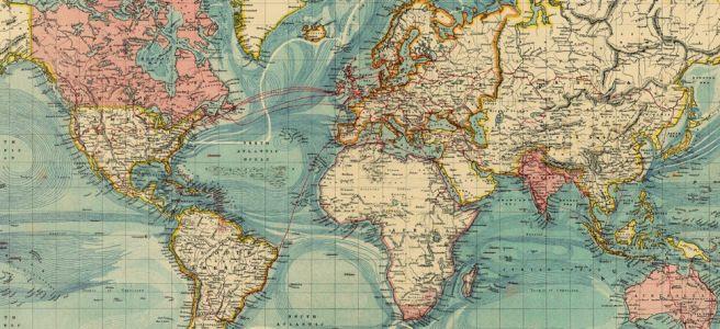 Tumblr Vintage World Map 647313 1 Art Pinterest Mapas