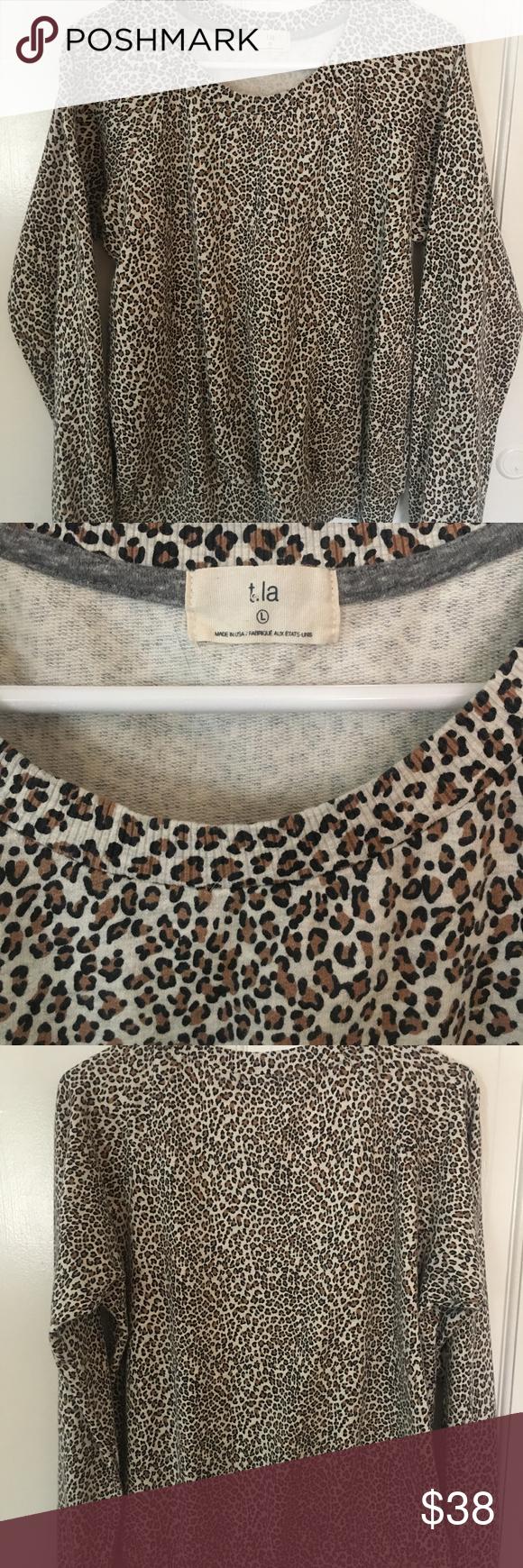T La Leopard Print Sweatshirt Leopard Print Sweatshirt Printed Sweatshirts Crew Neck Sweatshirt [ 1740 x 580 Pixel ]