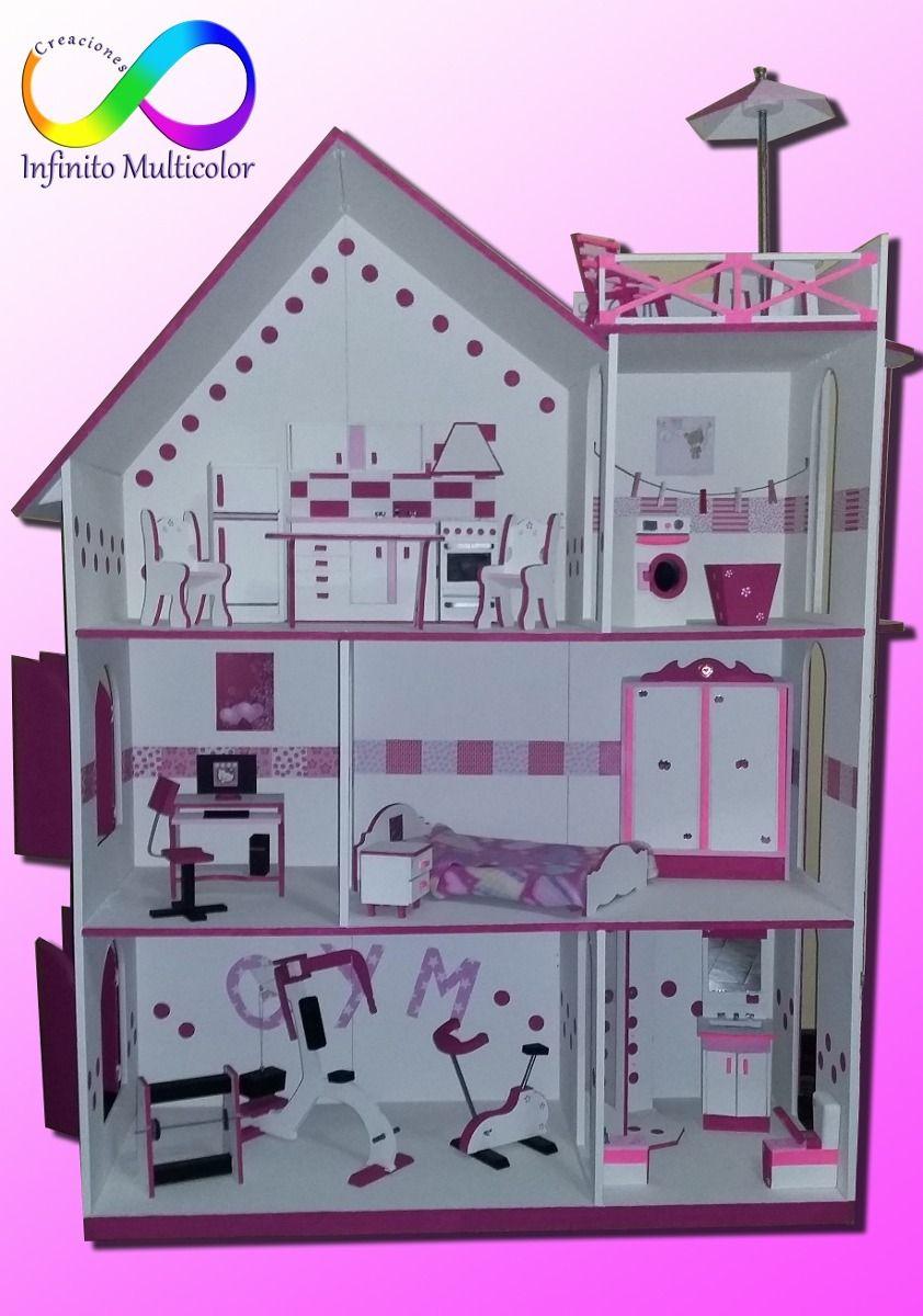 Casita de mu ecas con ascensor gigante con regalos - Casa de barbie con ascensor ...