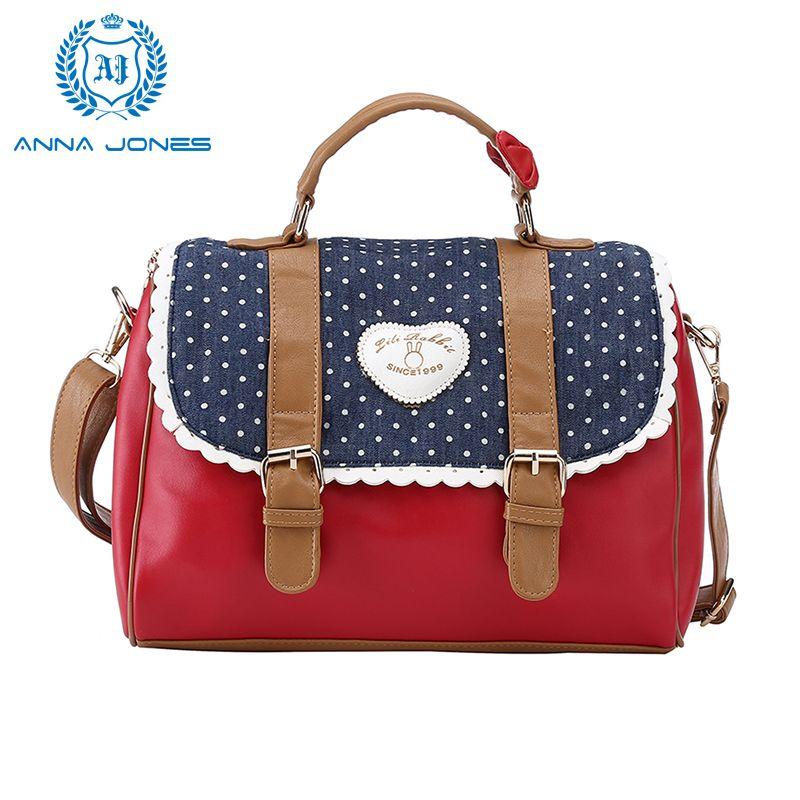 ANNA JONES 2017 Red handbags shoulder bag designer handbags on ...
