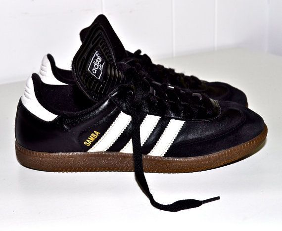 1980s adidas shoes | ADIDAS 1980s Samba Indoor Soccer SNEAKERS Shoes Black  leather and .