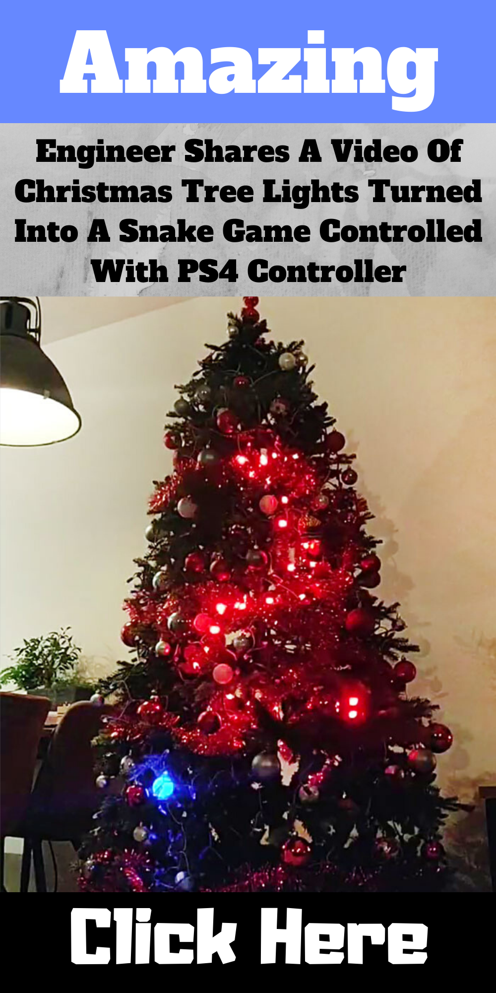 Engineer Shares A Video Of Christmas Tree Lights Turned Into A Snake Game Controlled With Ps4 Controller In 2020 Christmas Tree Images Christmas Tree Lighting Amazing Christmas Trees