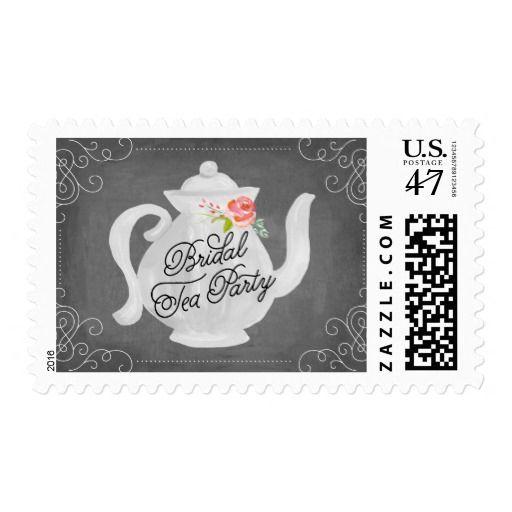bridal tea party bridal shower postage
