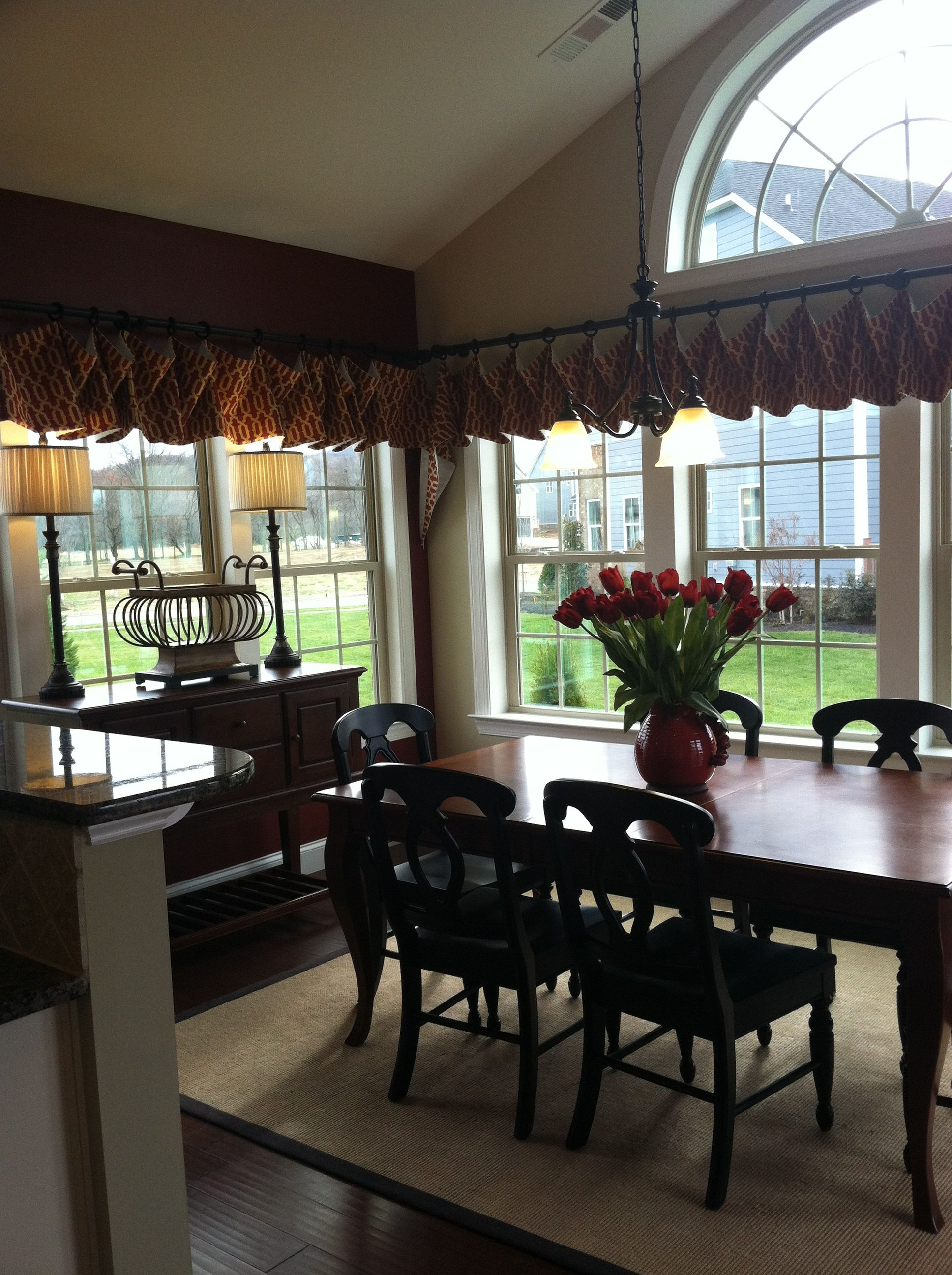 Creative Kitchen Window Treatments Hgtv Pictures Ideas: Morning Room In Model Home Stream Valley