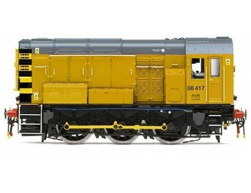 The Network Rail 0-6-0 Class 08, in the range of Diesel/Electric Locomotives accurately recreates the real life locomotive.
