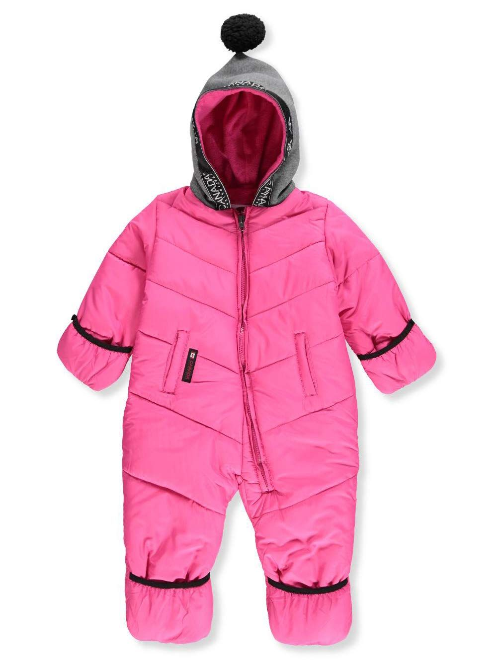 Canada Weather Gear Baby Girls 1piece Snowsuit Fuchsia 12 Months Baby Girl Clothing Baby Girl Fa Baby Girl Clothes Cute Baby Girl Outfits Cute Baby Clothes