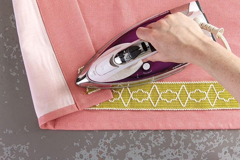 How To Add Tape Trim To Curtain Panels Diy Drapes No Sew Curtains Panel Curtains
