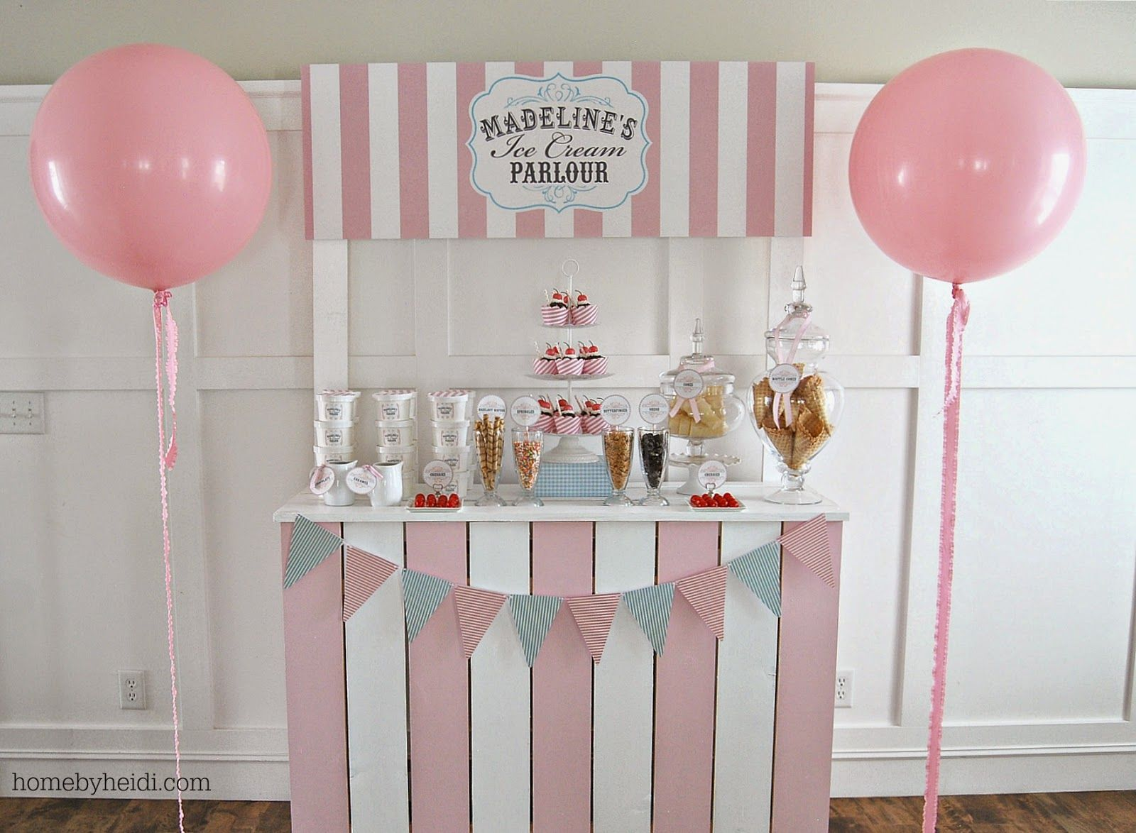 Home by Heidi: Madeline\'s Ice Cream Parlor | Stella\'s first bday ...