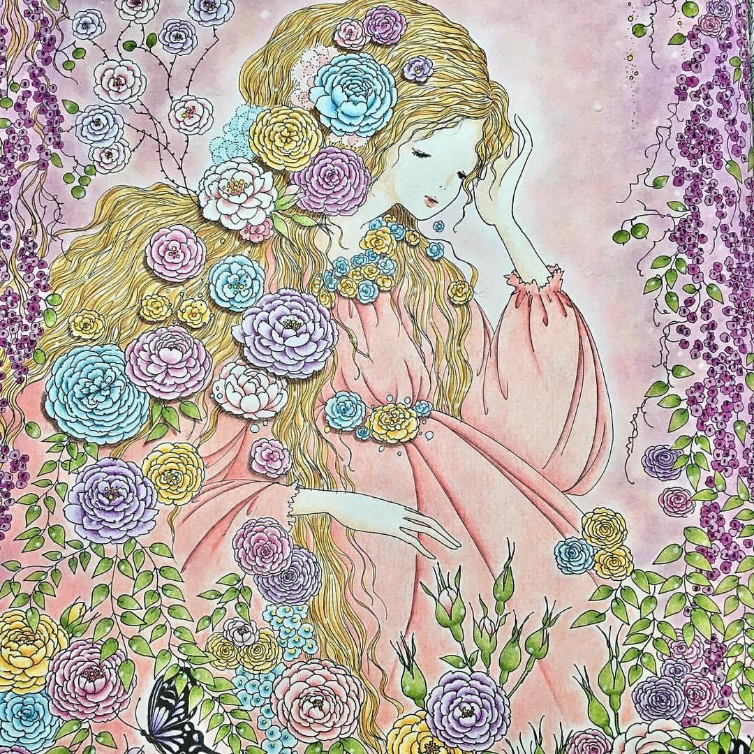 おとぎ話のぬり絵ブックより眠れる森の美女 薄い色はどうしても色